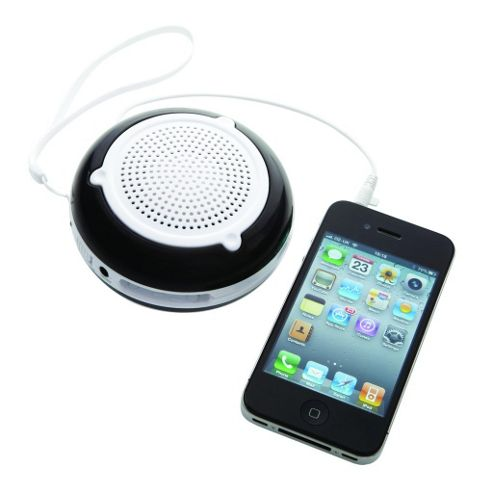 Groov-e GVSP200/BLACK GoGo Rechargeable Speaker for iPod, iPhone and MP3 - Black