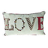 Catherine Lansfield Love Cushion - Red