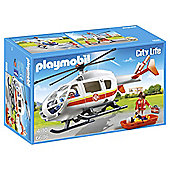 Playmobil 6686 City Life Emergency Medical Helicopter Playset