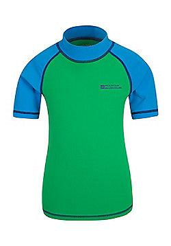 Mountain Warehouse Short Sleeved Kids Rash Vest - Green