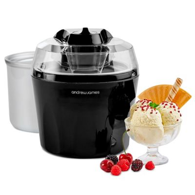 Andrew James Ice Cream Maker With Spare Bowl in Black