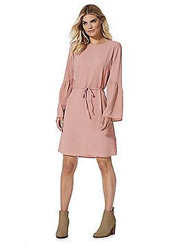 Vero Moda Crepe Bell Sleeve Dress - Blush pink