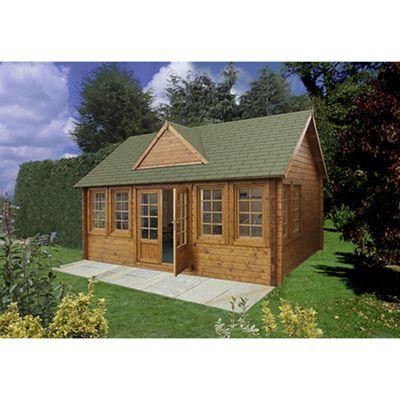 Forest Garden Cheviot Log Cabin 5.5 x 4.0m Installed