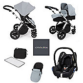 ickle bubba Stomp V3 Maxi Cosi AIO Travel System - Silver (Silver Chassis)