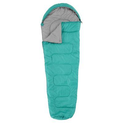 Tesco 300gsm Mummy Sleeping Bag Green