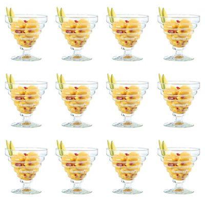 Durobor Etore Stemmed Sundae / Dessert / Ice Cream Glass Bowl - 360ml - Pack of 12 Glasses