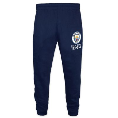 Manchester City FC Boys Slim Fit Jog Pants Navy 10-11 Years