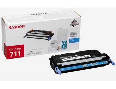 Canon 711 (Cyan) Toner Cartridge (Yield 6,000 Pages)