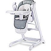 Caretero Indigo 2 in 1 Highchair & Electrical Swing (Grey)
