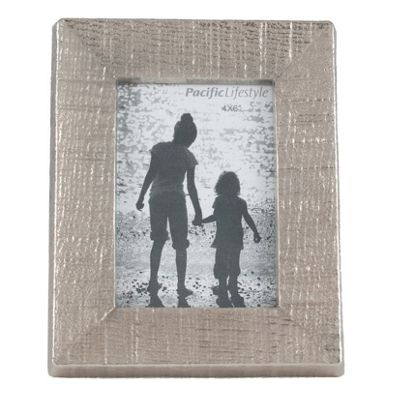 Textured Nickel Aluminium & Glass Photo Frame For Home