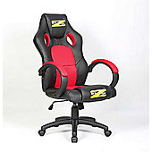 BraZen Shadow Gaming Chair - Black/Red