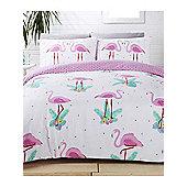 Rapport Flamingo Duvet Cover Set - Pink