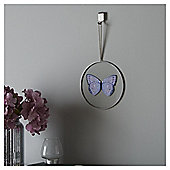 Fox & Ivy Round Glass Butterfly Plaque