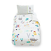 B Baby Bedding Alphabet Brights Cotbed Duvet Set Size cot bed
