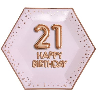 Glitz & Glamour 21st Birthday Plate - 26cm