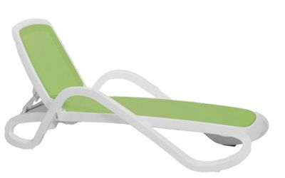 Nardi Alfa Lounger in White / Lime
