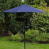 Cambridge 2m Crank And Tilt Garden Parasol Blue