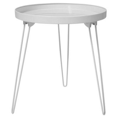 Anica Folding Pin Leg Side Table, Grey