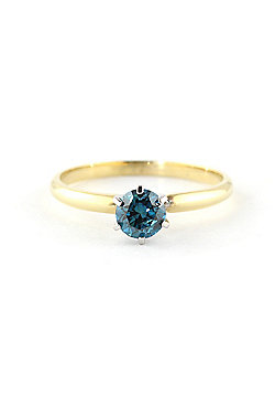 QP Jewellers 0.50ct SI-1 Diamond Crown Solitaire Ring in 14K Gold