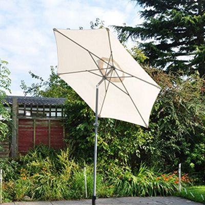 Kingfisher 2M Lightweight Cream Aluminium Outdoor Parasol