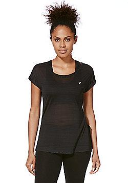 F&F Active Lightweight Burnout T-Shirt - Black