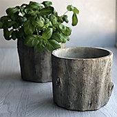 Log Plant Pot