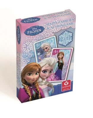 Disney Frozen 2-In-1 Happy Families and Action Game Playing Cards