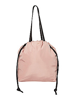 be57d059f4 F F Active Drawstring Tote Bag Nude Pink One Size