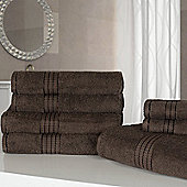 Dreamscene Luxury Egyptian Cotton 7 Piece Towel Bale Set - Chocolate
