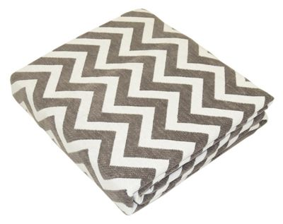 EHC Chenille Chevron Pattern Throw