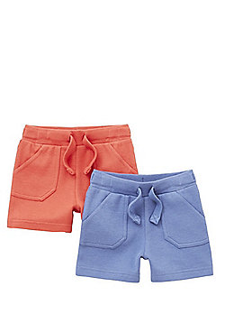 F&F 2 Pack of Drawstring Jersey Shorts - Multi
