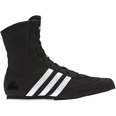 adidas Box Hog Mens Boxing Trainer Shoe Boot Black / White - UK 8