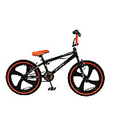 "Zombie Slackjaw 20"" Mag Wheel 360 Gyro Freestyle BMX Bike Black/Orange"