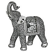 Jumbo - Curly Mirror Elephant Ornament - Silver