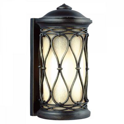 Aged Bronze Small Wall Lantern - 1 x 75W E27