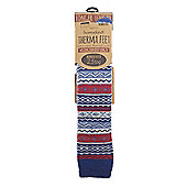 Homeknit Mens Wellington Boot Socks, Blue