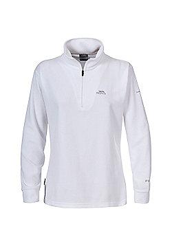 Trespass Ladies Louviers Fleece Zip Top - White