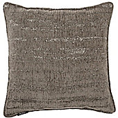 McAlister Pewter Textured Chenille Cushion Cover - 43x43cm