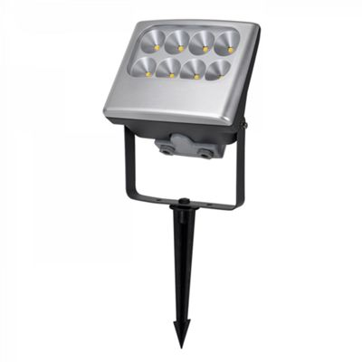 Silver Wall, Ground or Ceiling Light - 24W LED