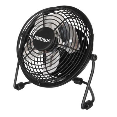 Igenix DF0004 4 Inch USB Desk Fan - Black
