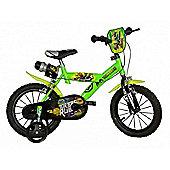 Teenage Mutant Ninja Turtles 16inch Balance Bike Green - DINO Bikes