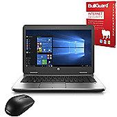 "HP Probook 640 G2 14"" Laptop Intel Core i5-6300U 8GB 256GB SSD with Internet Security & Mouse - 2TL58ES#ABU"