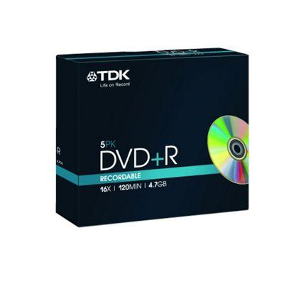 Maplin TDK 4.7 GB 16x DVD+R Blank Media Storage Disc 5 Pack