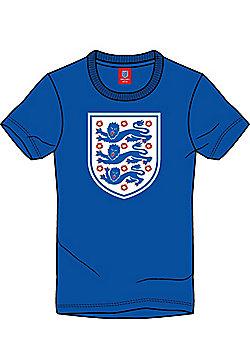 England Football Kids Large Logo Crest Tee - Blue - Blue
