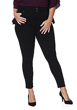 Simply Be Premium Shape & Sculpt High Rise Skinny Jeans - Black