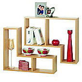 Twin - Display / Storage Shelves - Set Of Two - Beech