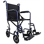 Aidapt Steel Compact Transport Wheelchair in Blue