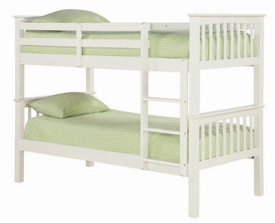 Home Zone Leo Bunk Bed - Solid Off - White