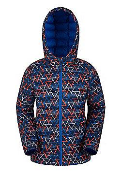 Mountain Warehouse Printed Seasons Boys Padded Jacket - Blue