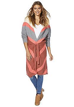 Vero Moda Long Line Cardigan - Coral